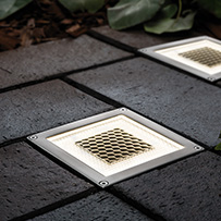 Onyx Solar Half Brick Light - Set of 2