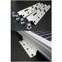 100mm Solar Panel Brackets - Z Shaped