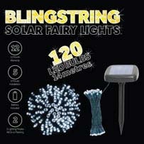 Blingstring Solar Fairy Lights - 120 LED Bulbs