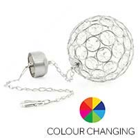 Aria Solar Hanging Crystal Ball Light - Colour Changing