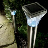 Solar ultra bright stainless steel post lights