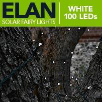 Elan Solar Fairy Lights - White 100 LEDs