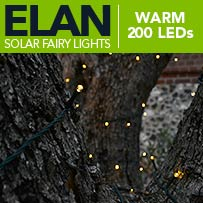 Elan Solar Fairy Lights - Warm White 200 LEDs
