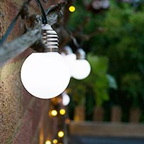 Elan Solar Festoon Lights - 20 LEDs