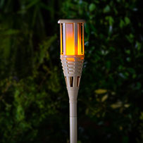 TrueFlame Solar Tiki Torch Light
