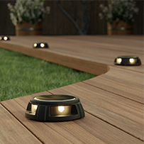 Tapdance Solar Decking Lights (Set Of 2 Warm White)