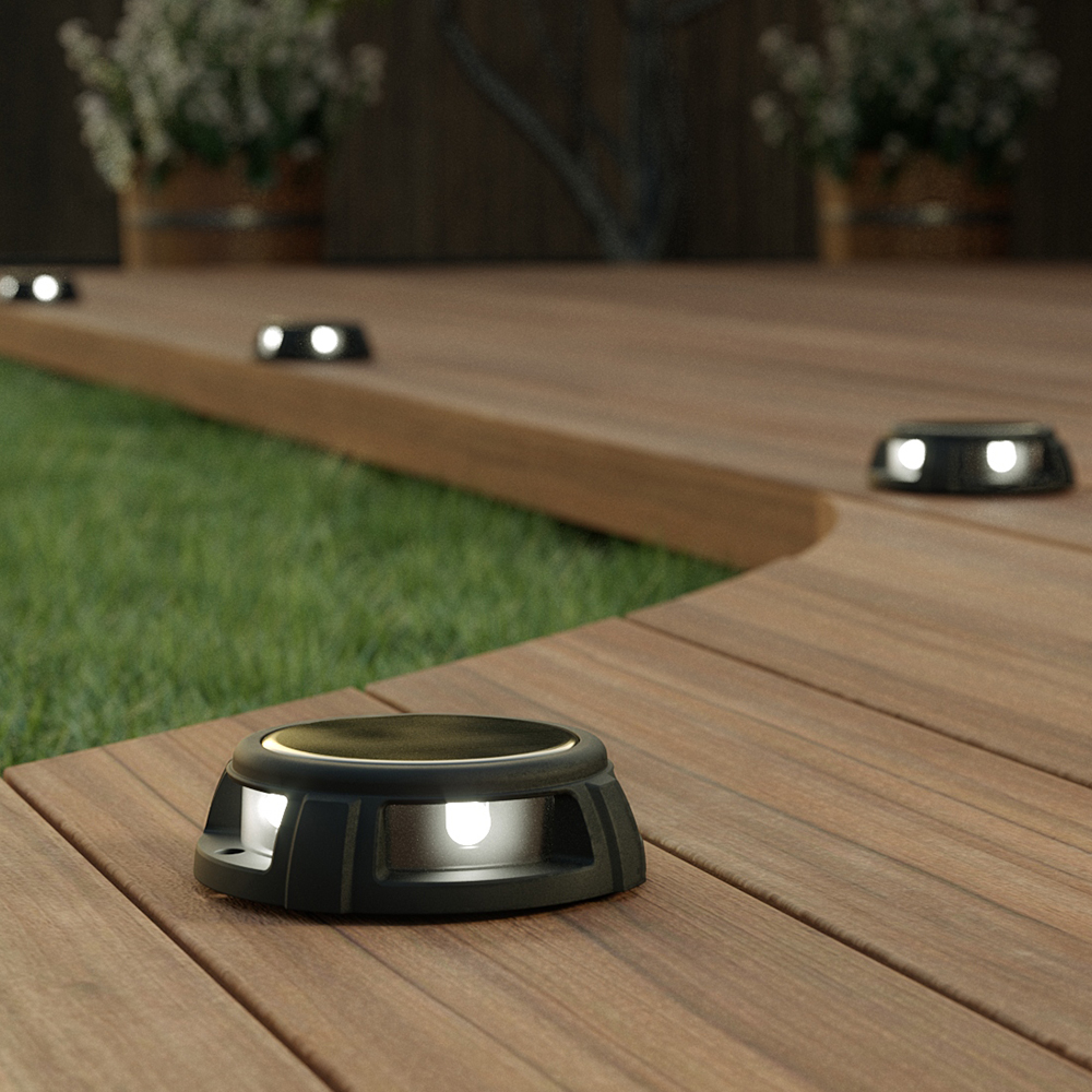 Tapdance Solar Decking Lights (Set Of 2 White)
